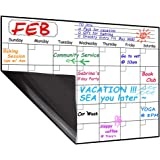 Monthly Magnetic Dry Erase Board Calendar 2020, 15.8 x 11.8 inches - Your Month Goal Setting Planner - Fridge Magnetic Planning Pad, Refrigerator Whiteboard (Upgraded Stain-Resistant Surface)