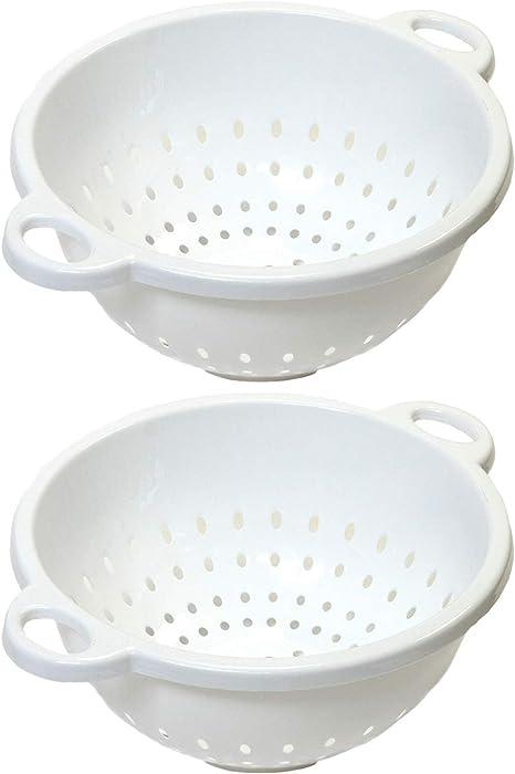 Chef Craft, 5-Quart, Deep Colander, White, 11 by 5 inch (2-Pack)