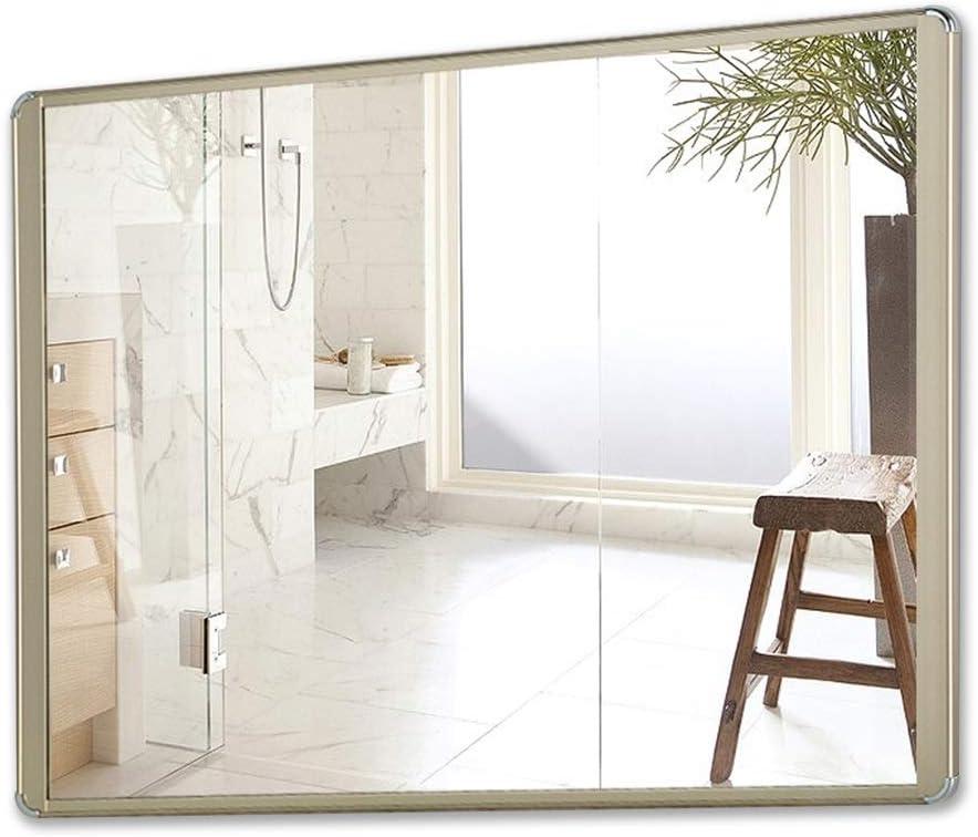 Espejos Espejo Baño De Aleación De Aluminio Espejo Ducha Espejo De Vanidad Maquillaje para Colgar En La Pared Espejo Cuadrado Espejos de baño (Color : Gold, Size : 50 * 70cm): Amazon.es: Hogar