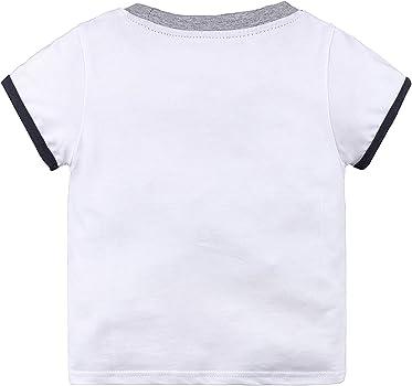 Ropa Bebe Niño Conjunto Camiseta Avión y Pantalon Corto Azules ...