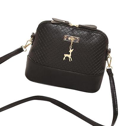 b668d5088e8e Women Messenger Bags Fashion Mini Bag Deer Toy Shell Shape Bag Shoulder Bags  (Black)