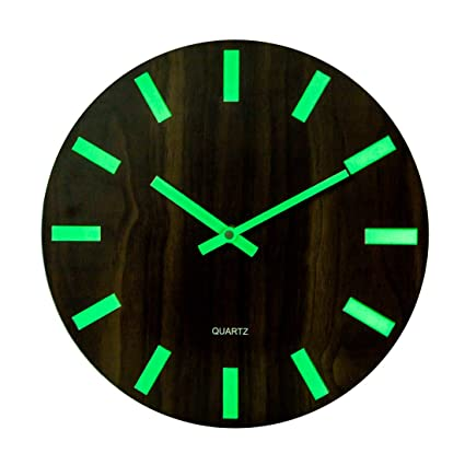 Yvsoo 12 Horloge Murale Fluorescente Horloge Murale En Bois