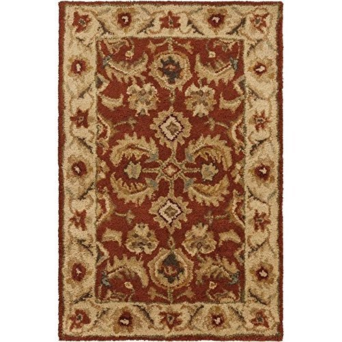 (Surya Ancient Treasures A-147 Classic Hand Tufted 100% Semi-Worsted New Zealand Wool Parchment 2' x 3' Traditional Accent Rug by Surya)