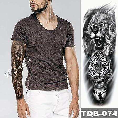 tzxdbh Brazo Grande Tatuaje de la Manga Sketch Lion Tiger ...