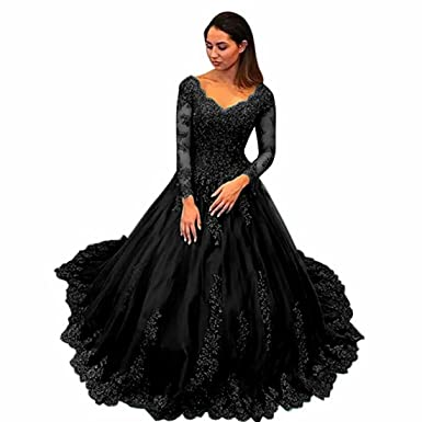 Chady Elegant Plus Size Evening Gowns 2018 Navy Blue Ball Gown Long Sleeves Prom Dresses