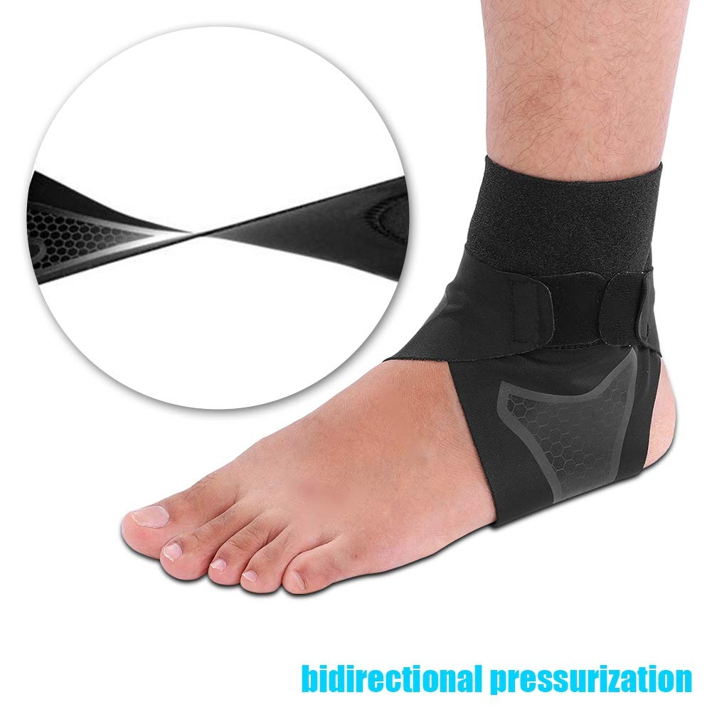 L-1 Pair Alomejor Ankle Brace Neoprene Ankle Support Brace Breathable Stabilizer Strap With T-shaped straps for Sports Fitness Riding