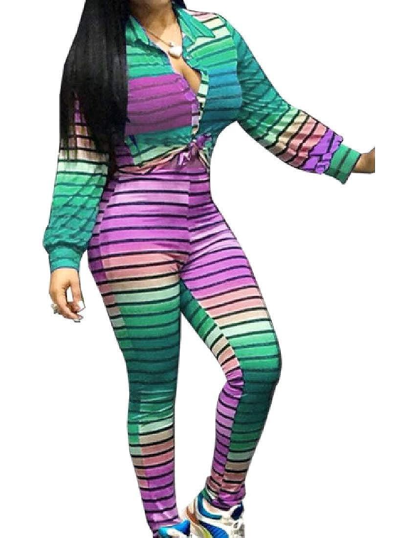 Andopa Rayas horizontales discoteca golpean chándal de color para ...