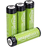 Amazon Basics 4 Pack AA Performance-Capacity 2,000 mAh Rechargeable Batteries, Pre-Charged, can be recharged 250+ times