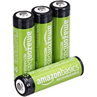 AmazonBasics AA Rechargeable Batteries (2000 mAh), Pre-charged - Pack of 4