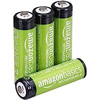 Voorgeladen oplaadbare AA-batterijen 2000 mAh / minimum van Amazon Basics: 1900 mAh [pak van 4 stuks] - buitenkant van…