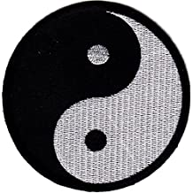 YIN YANG, SYMBOL, MARTIAL ARTS, KARATE, TAI-CHI, SYMBO/-Iron On Patch / Sewn On