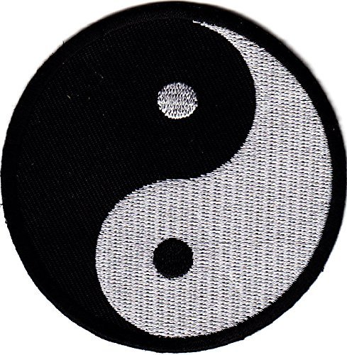 YIN YANG, SYMBOL, MARTIAL ARTS, KARATE, TAI-CHI, SYMBO/-Iron On Patch / Sewn On by DECO FAIRY (PATCH)   B00XXPXP42