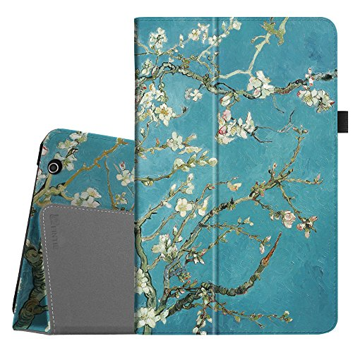 Fintie Folio Case for Dragon Touch V10 10-Inch Android Tablet, Slim Fit Premium PU Leather Stand Cover with Stylus Holder, Blossom