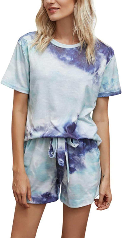 Men/'s Short Sleeve Striped Shorts Pajamas Comfy Loose Loungewear Homewear Pyjama