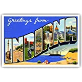 Amazon.com : INDIANA STATE MAP postcard set of 20 identical ... on washington state map postcard, indiana state park campground maps, ohio state map postcard, indiana united states map,