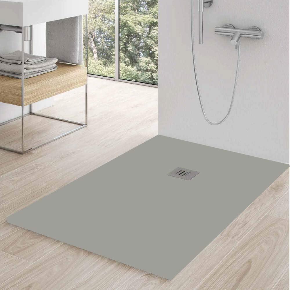 Zenon - Plato de ducha rectangular, 70 x 140 cm, efecto piedra: Amazon.es: Bricolaje y herramientas