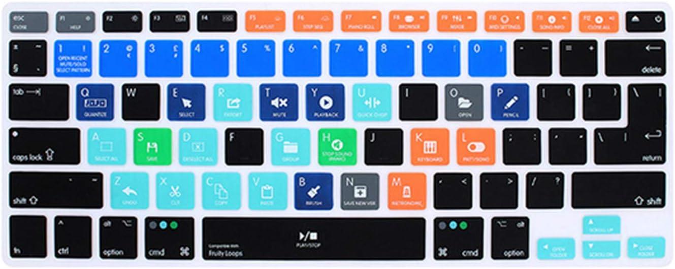 Funda de teclado para MacBook Pro Air Retina 13 15 17-Fl ...