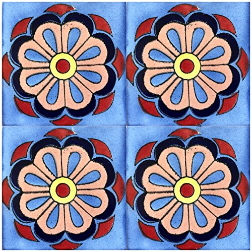 Rustico Tile and Stone TR6DAISY Daisy Mexican Tile Box of 45, 6 x 6