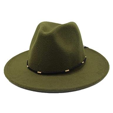a1053e738 Fashion Men Women Vintage Wool Felt Fedora Panama Hat Elegant Jazz ...