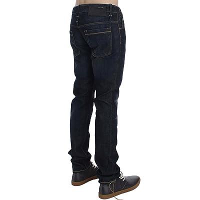 ACHT Blue Wash Cotton Denim Slim Fit Jeans