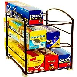 "DecoBros Kitchen Wrap Organizer Rack, Bronze (Small / Standard, 2-1/2"" BOX)"