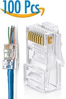 Amazon.com: Cat6 RJ45 Ends, CableCreation 100-PACK Cat6 ... on