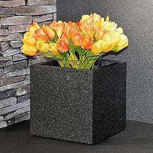 'Plan Tara Flores Plantas (trog Erica en aspecto Granito Jardinera Antracita 23x 23cm fibra de vidrio