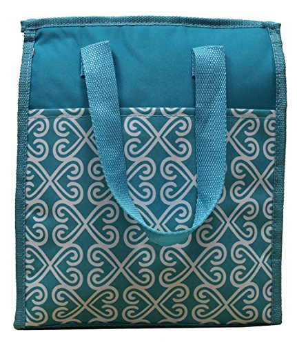 pack-it-up-large-insulated-reusable-school-travel-lunch-bag-teal-geometric