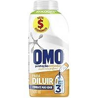 Lava-Roupas Líquido para Diluir Omo Proteção Antiodor Frasco 500ml Refil Econômico, OMO