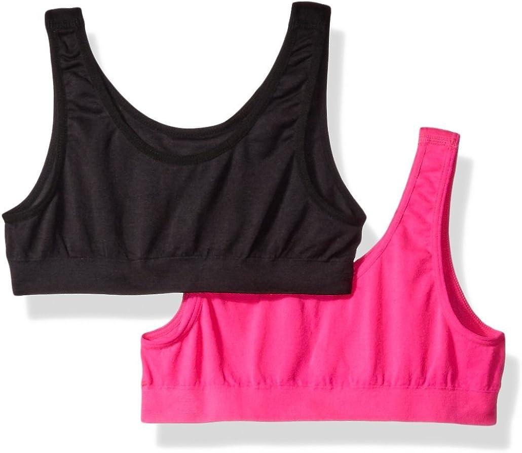 Fruit of the Loom Girls Santoni Sports Bra 2 Pack Undershirt