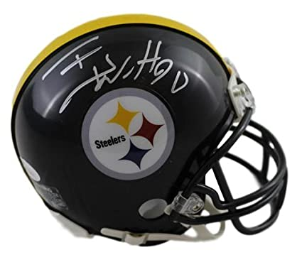 047e04e77 Image Unavailable. Image not available for. Color  TJ Watt Autographed Signed  Pittsburgh Steelers Riddell Mini Helmet JSA