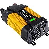 KKmoon Inversor de onda senoidal modificado de alta frequência 4000W Inverter de energia de pico Conversor DC 12V para AC 220