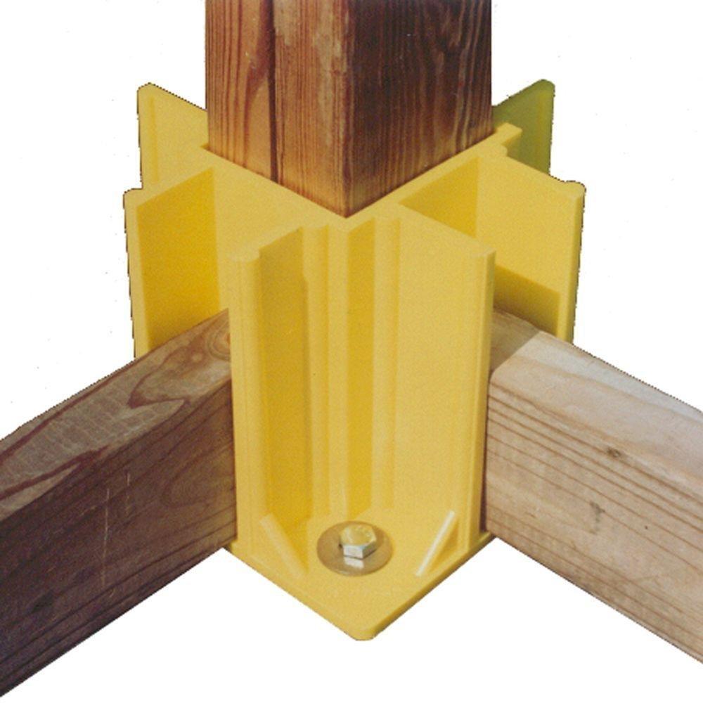 Safety Boot Yellow OSHA Temporary Guard Rail System by Safety Maker (12 Units) by Safety Maker, Inc. (Image #2)