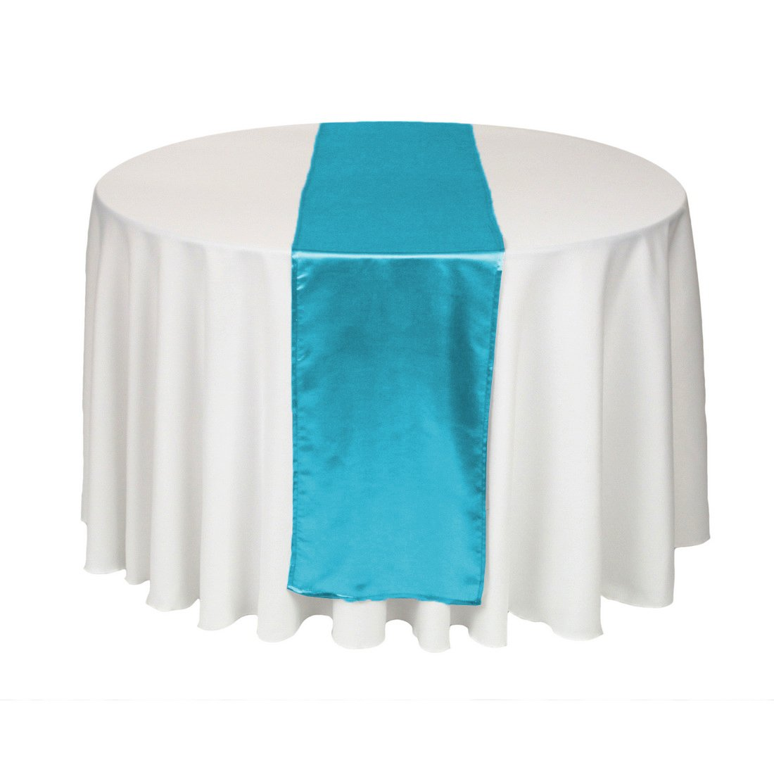 Amazon.com: LinenTablecloth 14 X 108 Inch Satin Table Runner Caribbean:  Home U0026 Kitchen
