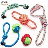 #6: Kidsky Dog Chew Toys for Puppies, Pet Rope Toys, Teething Toys for Small Doggie. (Pack of 5)
