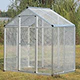 JAXPETY 77'' White Aviary Large Aluminum Bird Cage Gentle Animals House Pet Parrots Poultry Walk
