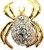 Halloween Spider Tie Tack Hat Lapel Pave Crystal Pin