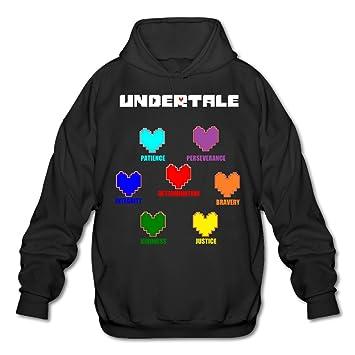 Cool Colorful Undertale Hearts Soul Men's Hoodies M Black, Baseball