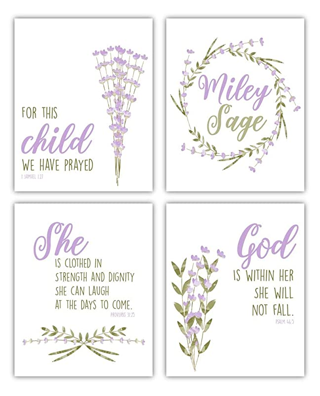 Personalized Baby Shower Nursery Family Ceramic Platter Floral 8x13 Inches Quote Saying Bible Verse Custom Order Monogram