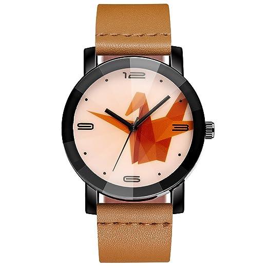 Dylung Reloj para Hombre Mujer Grulla de Papel Relojes de Hombres Casual Reloj de Pulsera del