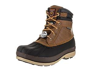 Skechers for Work Women's Duck Rain Boot, Brown, 8 M US