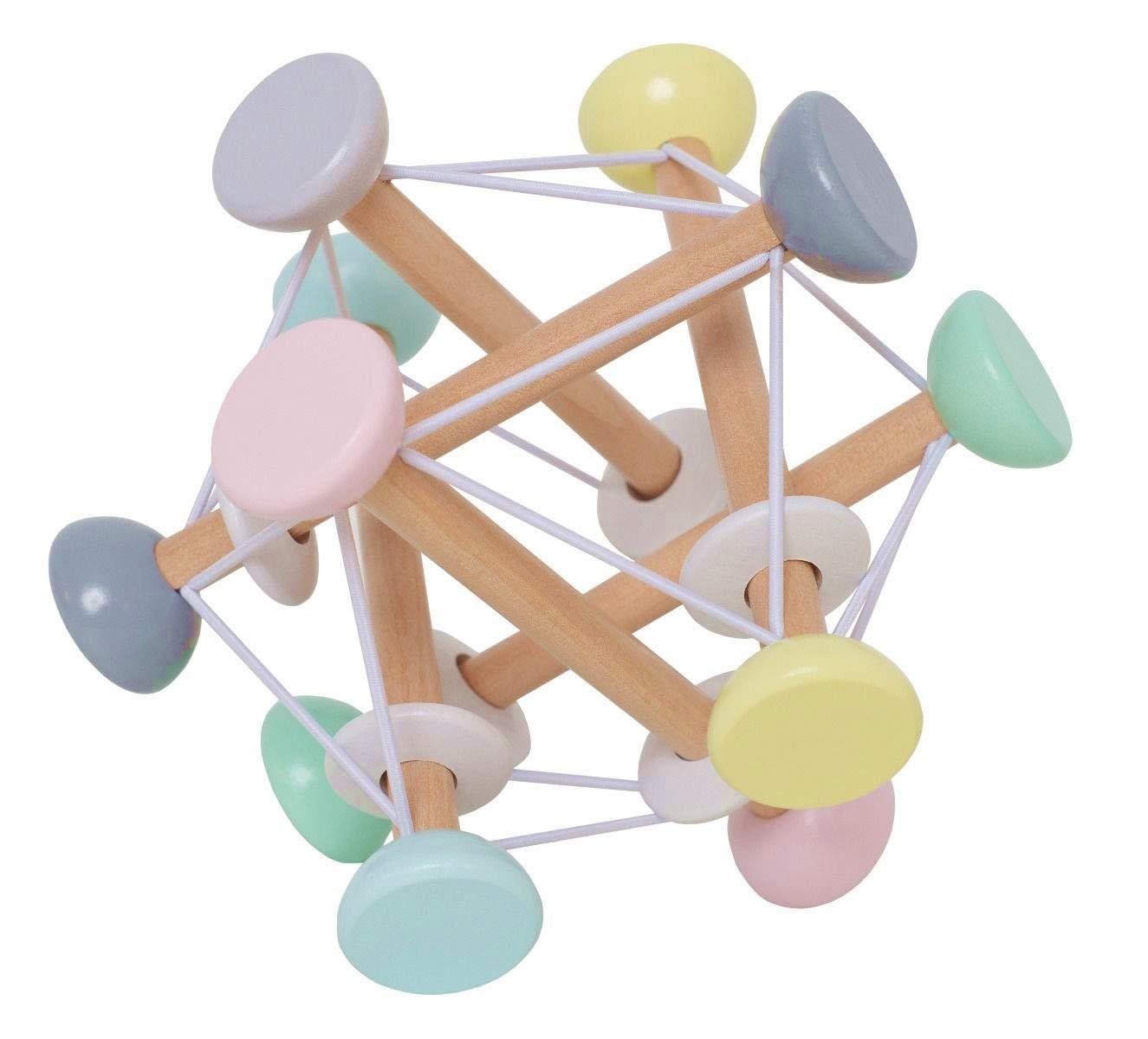 LS-Design Holz Motorik W/ürfel 16cm Magic-Ball Activity Spielzeug Spielw/ürfel