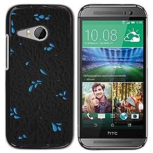 Paccase / SLIM PC / Aliminium Casa Carcasa Funda Case Cover para - Water Life Flower Pattern Dark - HTC ONE MINI 2 / M8 MINI
