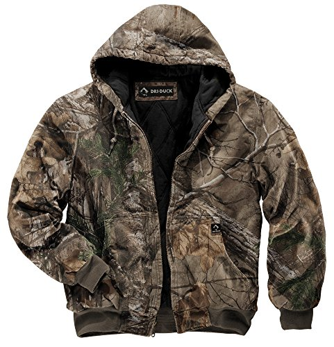DRI Duck Men's 5020 Cheyenne Hooded Work Jacket, Realtree Xtra, X-Large (Heavy Duty Cotton T Shirts With Pocket)