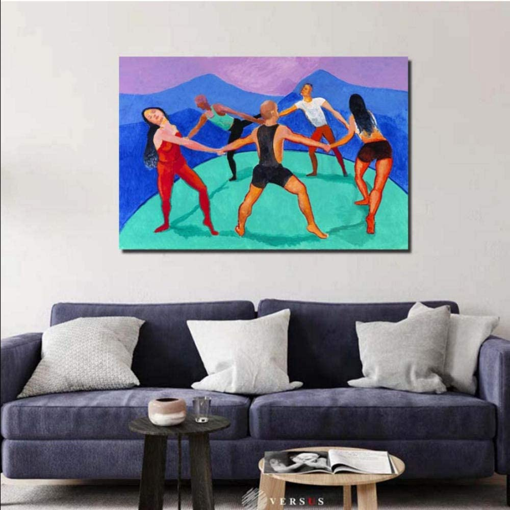 Knncch Bailarines HD Arte de pared Carteles e impresiones de lienzo Pintura sobre lienzo Cuadro decorativo para la sala de estar de la oficina Decoración para el hogar-50x70cm
