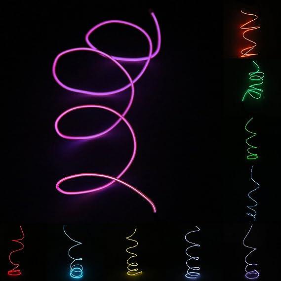 MagiDeal Neon LED Lichter Lichtleisten Ambientebeleuchtung El Draht ...