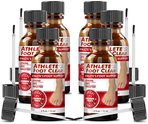 Athlete's Foot Clear - The Best Choice for Athlete's Foot Relief - 6 Bottles by Athlete's Foot Clear