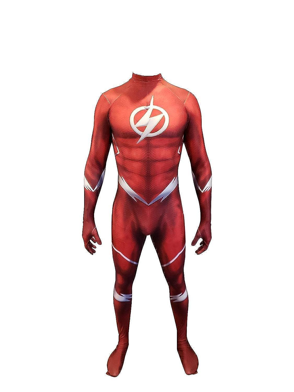 Amazon.com: cosplaylife el Flash Disfraz De Cosplay tela de ...
