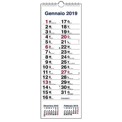 Calendario Olandese Da Stampare.Calendario 2019 Olandese Slim Da Muro 3 Mesi Per Scrivere Appunti 15x42 Cm