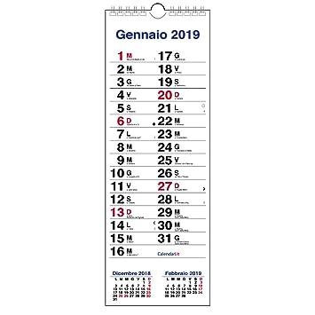 Calendario Para Escribir.Calendario 2019 Holandesa Slim De Pared 3 Meses Para Escribir Notas